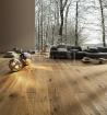 Třívrstvé dřevěné podlahy - Rudda Dub Colorado, Ručně škrábaný, hoblovaný, olej