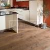 Masivní dřevěné podlahy - Rudda Dub Colorado, Ručně škrábaný, hoblovaný, Antik olej