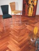 Dvouvrstvé dřevěné podlahy - Doussie parketa