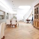 Dvouvrstvé dřevěné podlahy - Dub Select/Natur, francouzsk vzor, bílý olej.