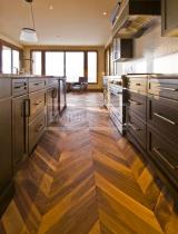 Dvouvrstvé dřevěné podlahy - Dub kouřový, rustik, CHEVRON francouzský vzor