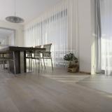 Třívrstvé dřevěné podlahy - Dub bělený Natur