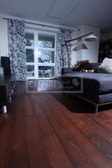 Třívrstvé dřevěné podlahy - Jasan thermo kartáčovaný