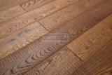 Třívrstvé dřevěné podlahy - Dub katrovaný, Brunet