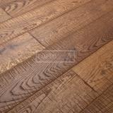 Třívrstvé dřevěné podlahy - Dub Rustikal katrovaný, Brunet
