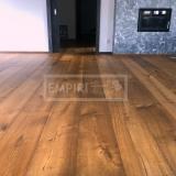 Třívrstvé dřevěné podlahy - Dub Grand Rustikal, jemny kartáč, kouřový, fáze, olej