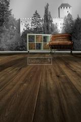 Třívrstvé dřevěné podlahy - Dub VERONA ručně škrábaný a hoblovaný, kouřový