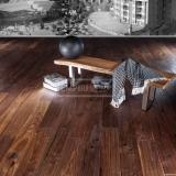 Třívrstvé dřevěné podlahy - Americký ořech Mount Whistler ručně škrábaný, hoblovaný