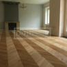 Masivní dřevěné podlahy - Chevron Francouzský vzor Dub Clasik kartáč