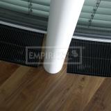 Podlahové lišty a naše práce s detaily - práce s polymerem ořech