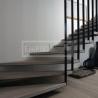 Ukázky realizací - obložení schodiště - Masivní schody DUB bělený