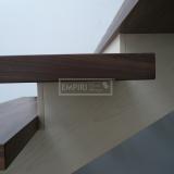 Ukázky realizací - obložení schodiště - Masivní schody Ořech monolit