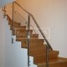 Ukázky realizací - obložení schodiště - Masivní schody DUB