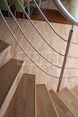 Obložení a renovace schodů - obložení schodů Hevea 3-lamela