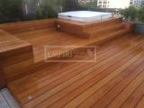 Dřevěná terasová prkna - Garapa 21x145 hladká/jemná drážka