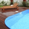 Dřevěná terasová prkna - Massaranduba 90 hladká/jemná drážka