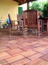 Dřevěná dlažba na terasu - Ipe dřevěná dlažba hladká/drážkovaná