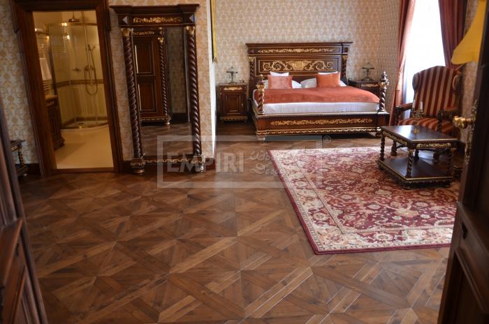 Mozaikové parkety Dub Vídeňský kříž 3, Old Style, fáze, olej medový W40