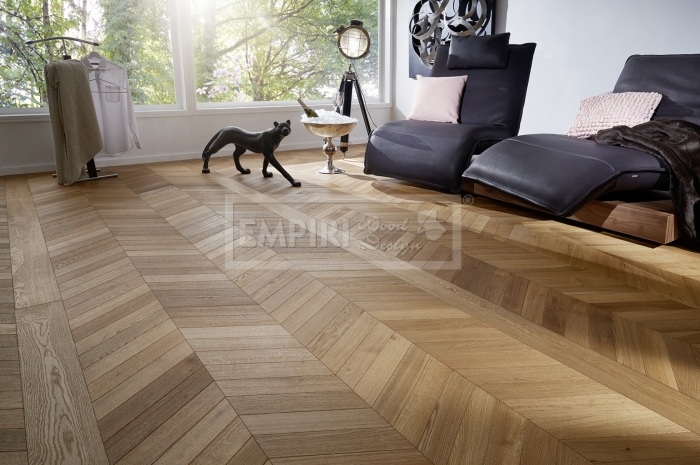 Podlahy Chevron Braga, classic, jemný kartáč, fáze, olej