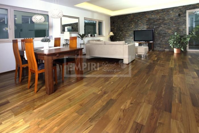 Dvouvrstvá dřevěná podlaha Teak