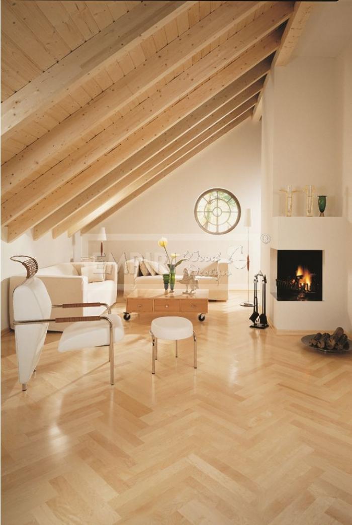 Dvouvrstvá dřevěná podlaha Javor kanadský parketa