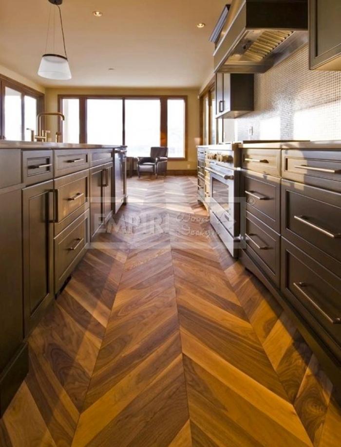 Dvouvrstvá dřevěná podlaha Dub kouřový, rustik, CHEVRON francouzský vzor