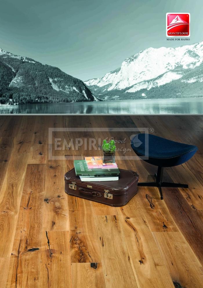 Třívrstvá dřevěná podlaha Dub Grand Rustic, jemný kartáč, olej