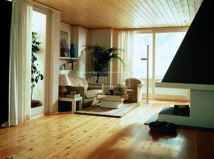 Třívrstvá dřevěná podlaha Modřín kartáčovaný