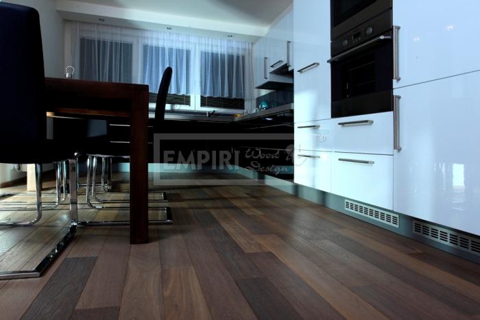 Třívrstvá dřevěná podlaha Jasan thermo purple