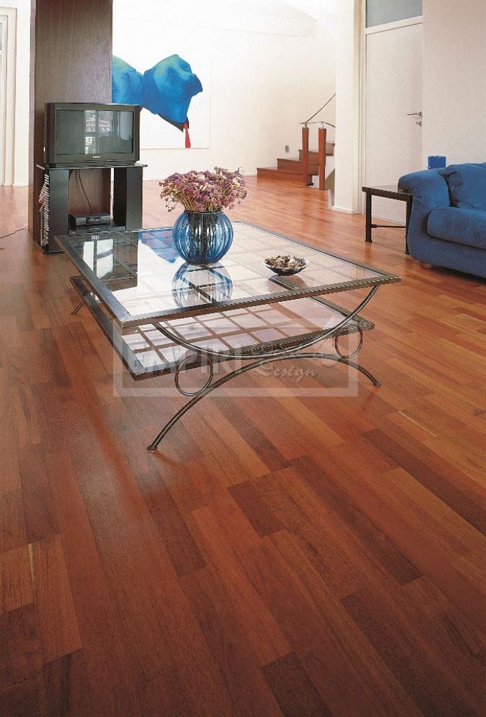 Třívrstvá dřevěná podlaha Merbau 3-lamela