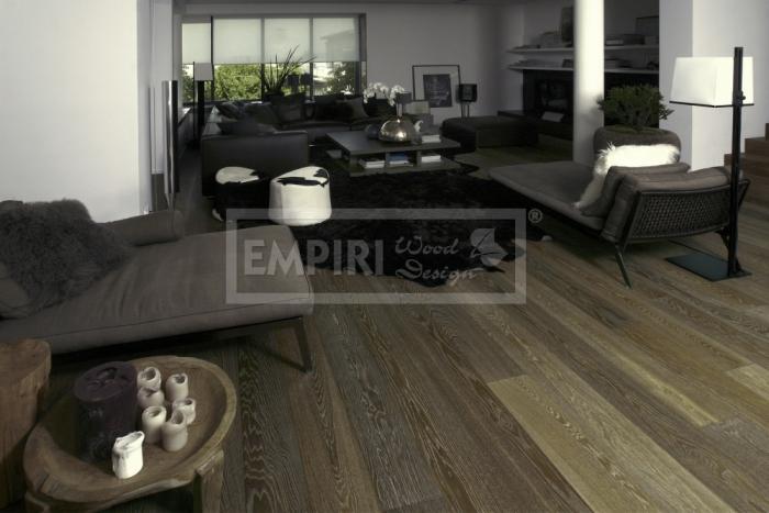 Třívrstvá dřevěná podlaha Dub natur kouřový bílé decapé