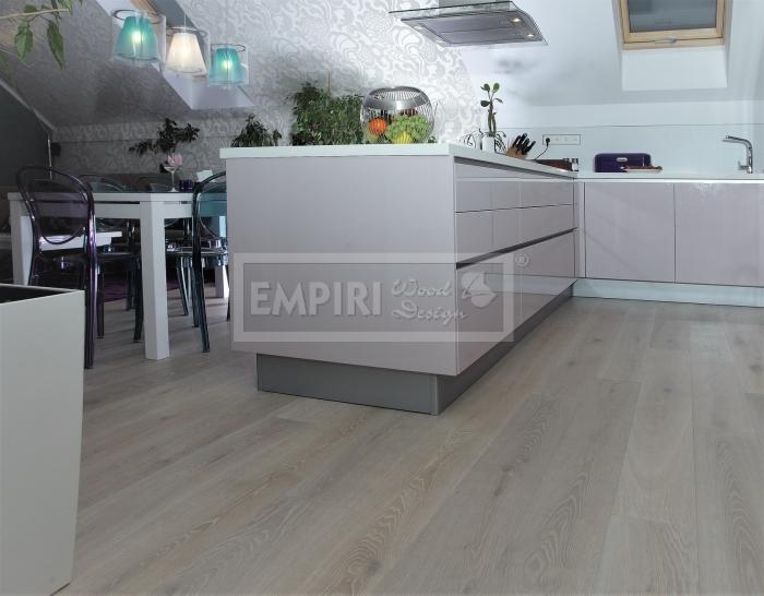 Třívrstvá dřevěná podlaha Dub Bělený Olymp