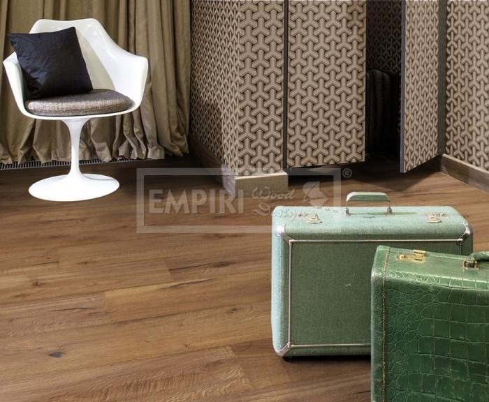 Třívrstvá dřevěná podlaha Dub Grampians / Artisan, ručně škrábaný, olej, fáze