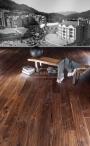 Americký ořech Mount Whistler ručně škrábaný, hoblovaný