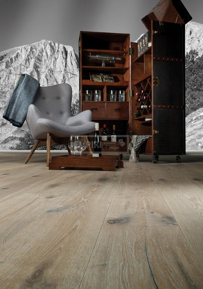Třívrstvá dřevěná podlaha Dub Olymp