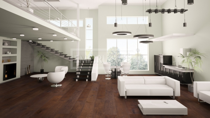 Třívrstvá dřevěná podlaha Dub rustikal, fáze, olej, walnut nebo bílý