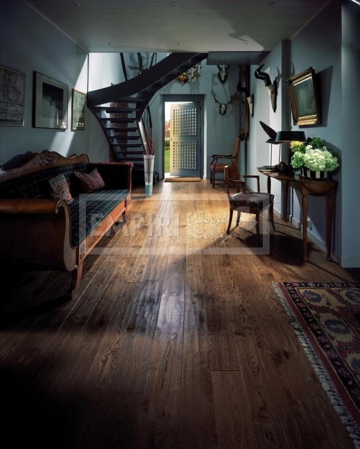 Masivní podlaha Dub evropský rustikal ručně škrábaný, hoblovaný