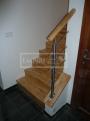 Masivní schody HEVEA
