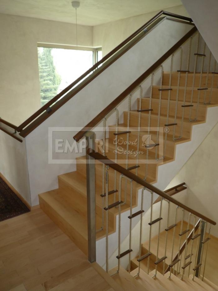 Dřevěné schody Masivní schody JAVOR