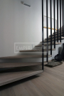 Masivní schody DUB bělený