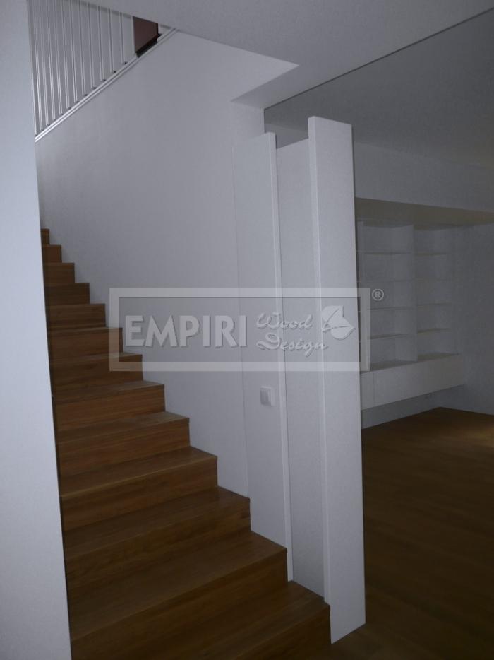 Dřevěné schody Masivní schody DUB