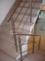 Masivní schody DUB kartáčovaný bělený