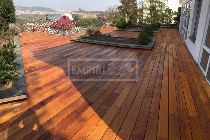 Dřevěná terasová prkna Garapa 21x145x1220-3960mm    Hladká