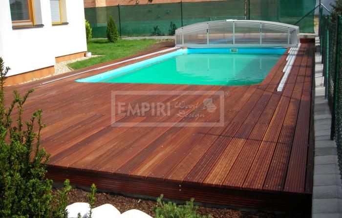 Dřevěná terasová prkna Bangkirai
