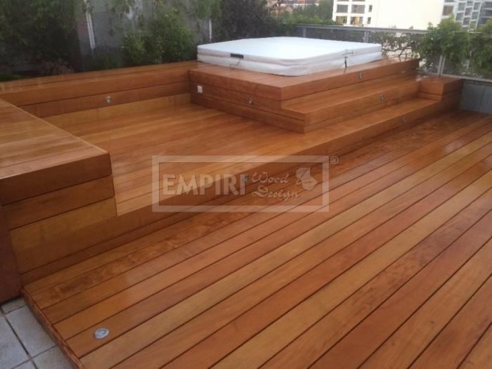 Dřevěná terasová prkna Garapa 21x145 hladká/jemná drážka