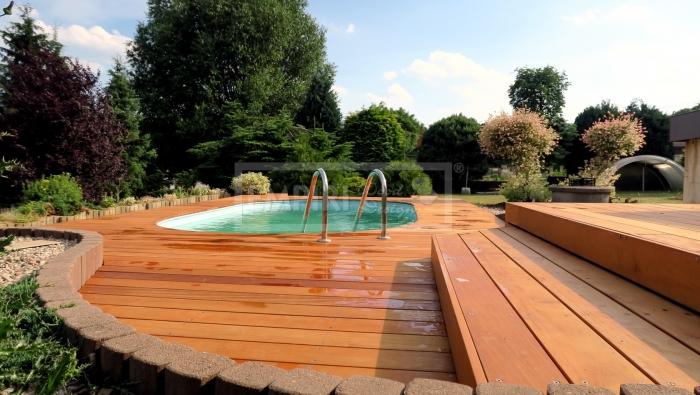 Dřevěná terasová prkna Garapa A/B 21x145 hladká/jemná drážka