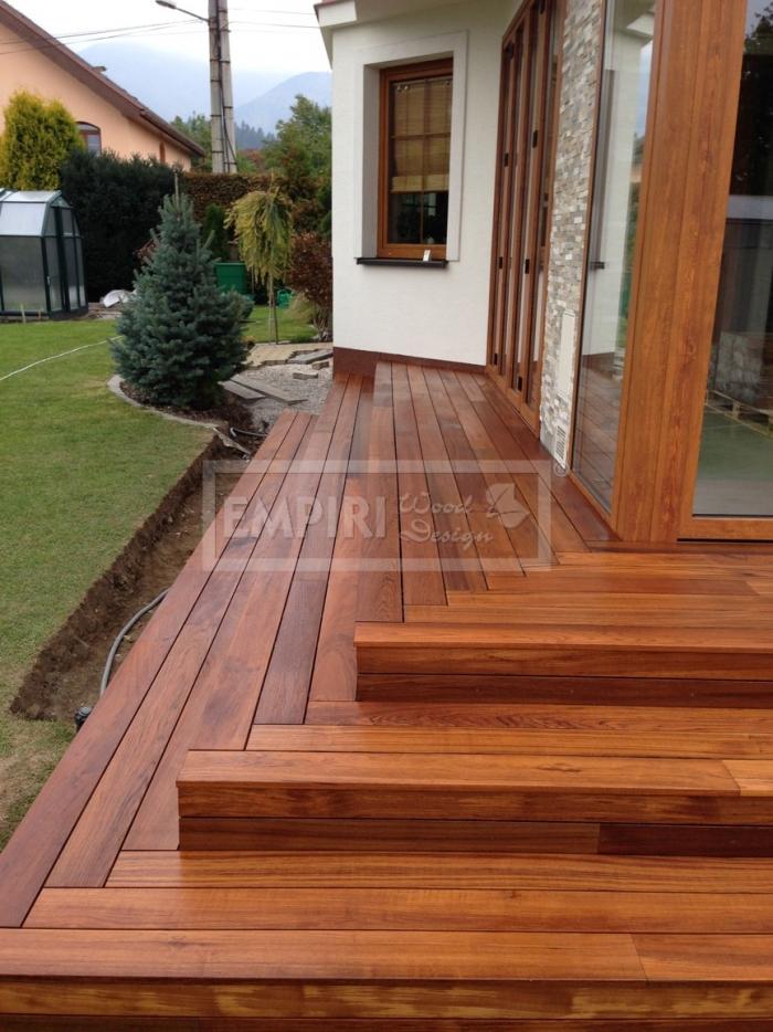 Dřevěná terasová prkna Teak 19x90 iclip system