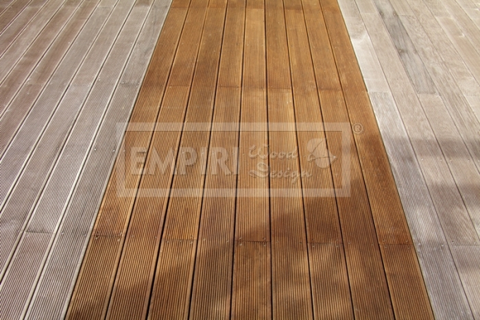 Dřevěná terasová prkna Thermo jasan selekt
